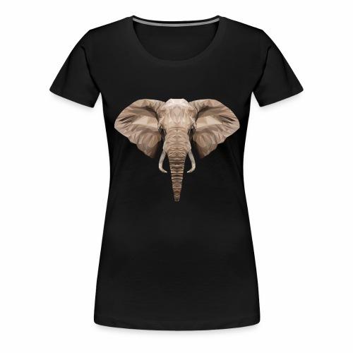 Low Poly Elephant - Maglietta Premium da donna