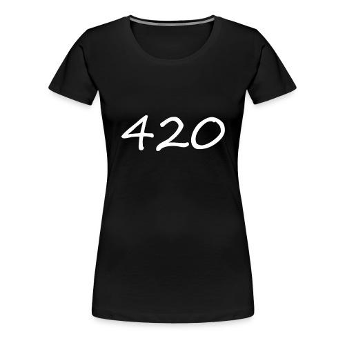 A hand drawn cannabis inspired 420 text logo - Women's Premium T-Shirt