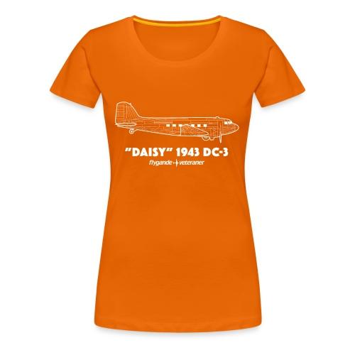 Daisy Blueprint Side 2 - Premium-T-shirt dam