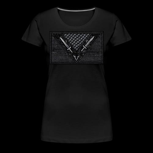 Vegan Battle Flag - Frauen Premium T-Shirt