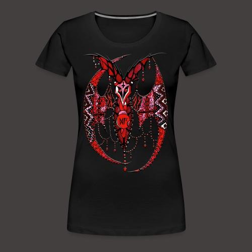 Chauve Souris Dentelle Rouge - T-shirt Premium Femme