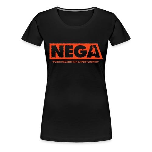 Kapea peruslogo Miehet - Naisten premium t-paita