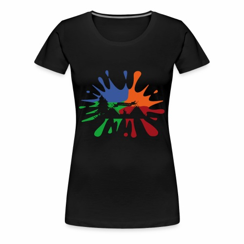 Farbklecks-Lager - Frauen Premium T-Shirt