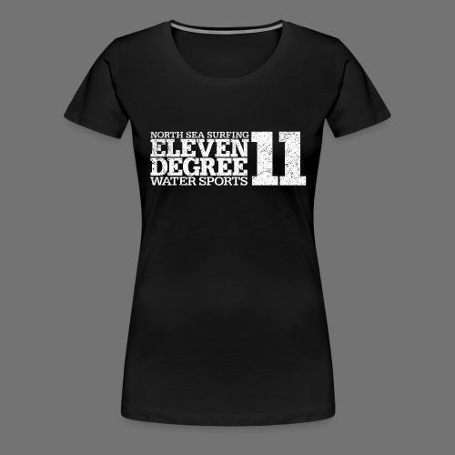 eleven degree white (oldstyle) - Women's Premium T-Shirt