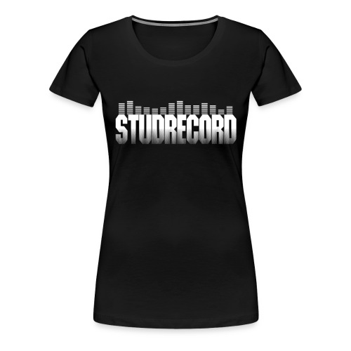 StudRecord (Logo Blanc) - T-shirt Premium Femme