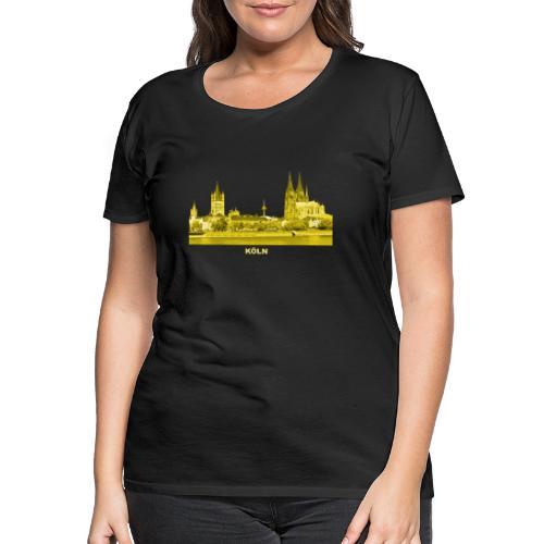 Köln Dom Rhein Nordrhein-Westfalen Deutschland - Frauen Premium T-Shirt