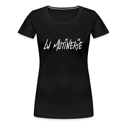 Hoodie Mutinerie Black Against - T-shirt Premium Femme