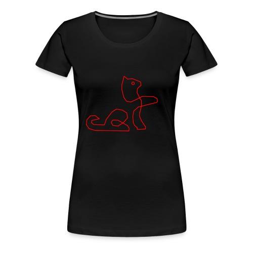 Rote Katze - Frauen Premium T-Shirt