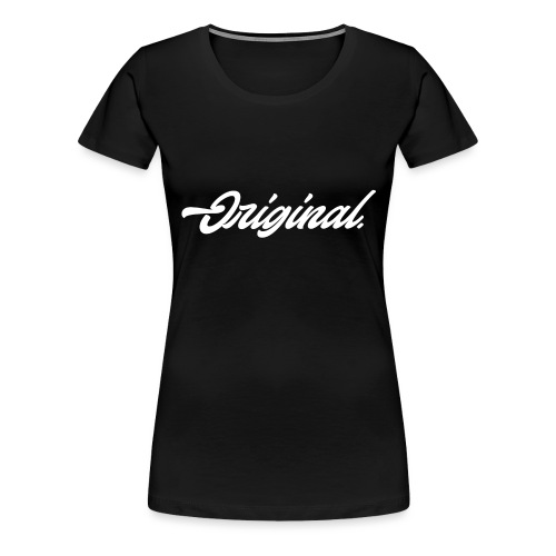 Original Lettering [White] - Women's Premium T-Shirt
