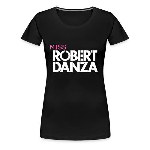 cap_logo_roze_miss_wit_copy - Vrouwen Premium T-shirt