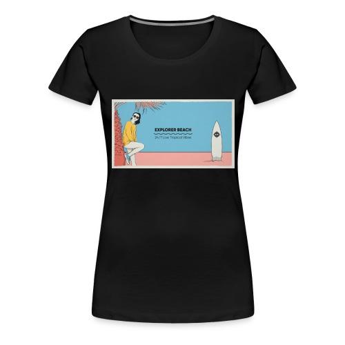 Noise Explorer Beach Test - T-shirt Premium Femme