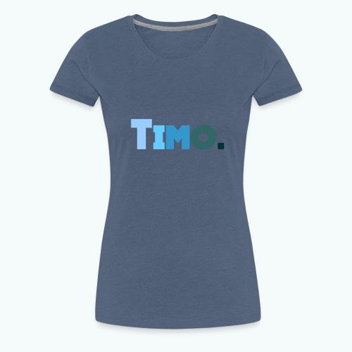 Timo in blauwe tinten - Vrouwen Premium T-shirt