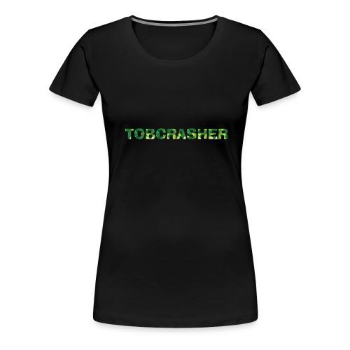 Tshirt Green triangles big - Frauen Premium T-Shirt