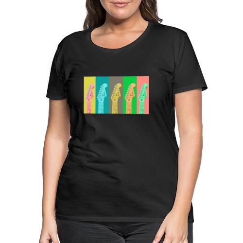 Colorful Guitar Gathering by #OneCreativeArts - Frauen Premium T-Shirt