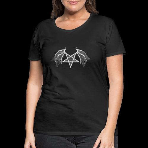 flügelpentagrammitstrukturhellgrau.png - Frauen Premium T-Shirt