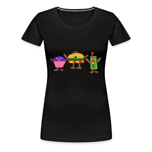 Fast food figures - Women's Premium T-Shirt