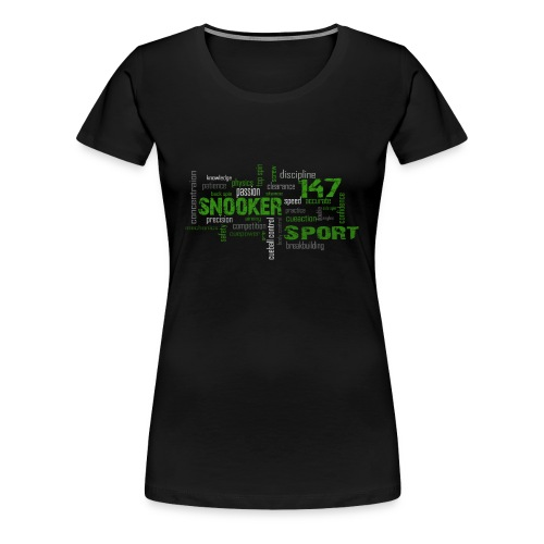 snooker word cloud - Frauen Premium T-Shirt