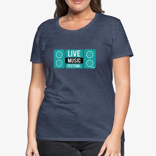 Amo la música - Camiseta premium mujer