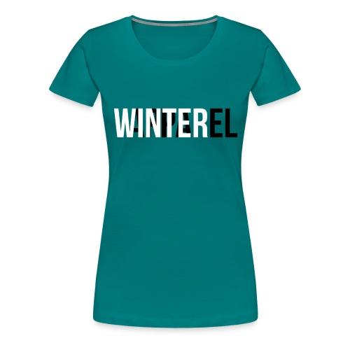 Winter Apparel Logo - Dame premium T-shirt