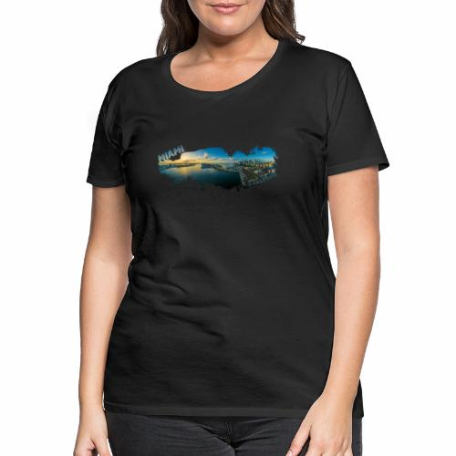 Miami Florida Splash - Women's Premium T-Shirt