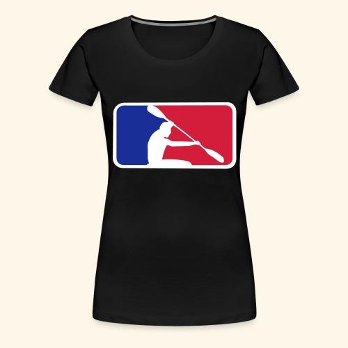 Kanu mit Frame - Frauen Premium T-Shirt