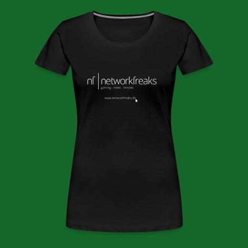 T-Shirt NetworkFreaks Weiße Aufschrift - Frauen Premium T-Shirt