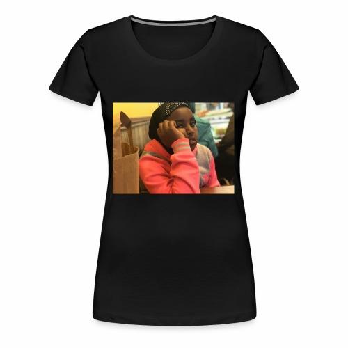 my enjoying little sis - Vrouwen Premium T-shirt