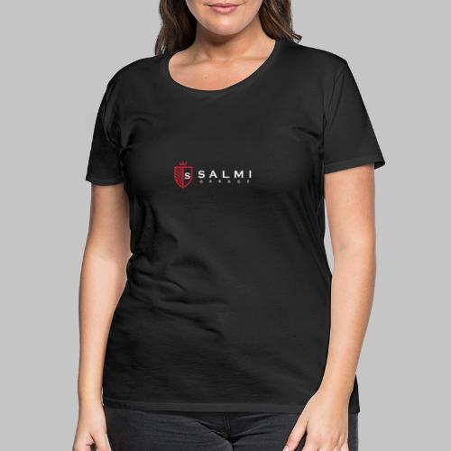 Salmi Garage Logo (Valkoinen Vaaka) - Naisten premium t-paita