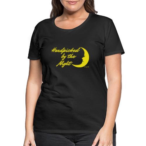 Handpicked design By The Night - Logo Yellow - Women's Premium T-Shirt