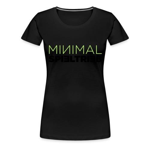 minimal spieltrieb - Frauen Premium T-Shirt