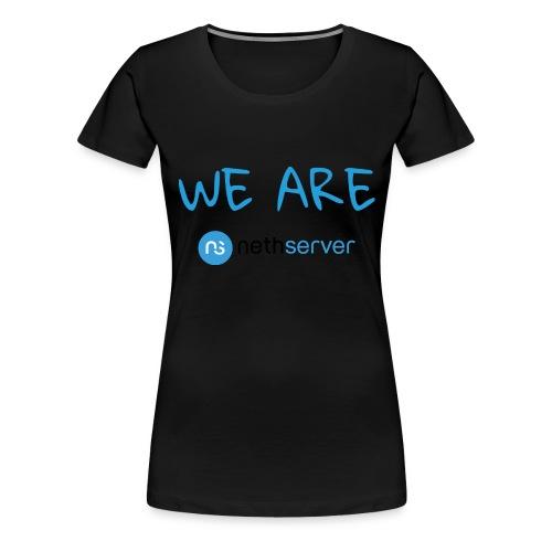 blue-black-rectangle - Women's Premium T-Shirt