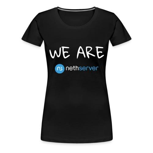 white-blue-rectangular - Women's Premium T-Shirt