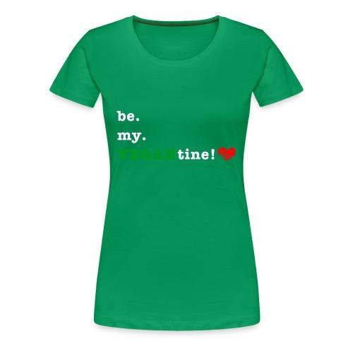 be my VEGANtine - white - Women's Premium T-Shirt