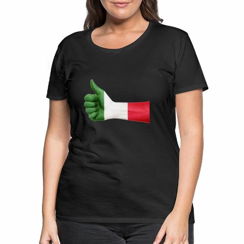 Italienische Flagge auf Daum - Frauen Premium T-Shirt