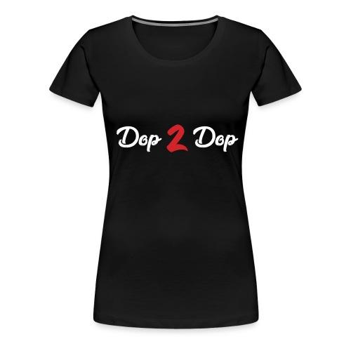 Dop 2 Dop Wit en Rood - Vrouwen Premium T-shirt