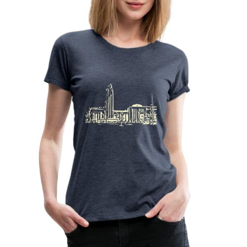 Helsinki railway station pattern trasparent beige - Women's Premium T-Shirt