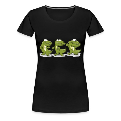 Nice krokodile - Frauen Premium T-Shirt