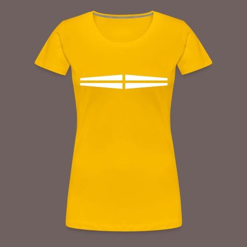 GBIGBO zjebeezjeboo - Rock - Traversant Blanc - T-shirt Premium Femme