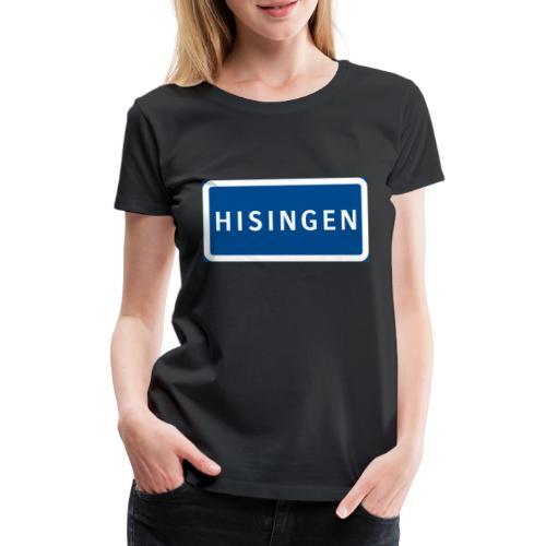 Vägskylt Hisingen - Premium-T-shirt dam