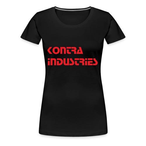 Kontra Industries Red GROß - Frauen Premium T-Shirt