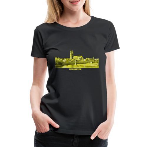 Magdeburg Dom Sachsen-Anhalt Deutschland Elbe - Frauen Premium T-Shirt