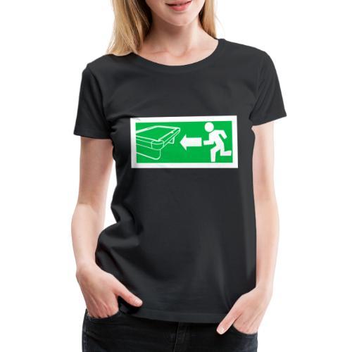 "Billard Shirt ""Notausgang Billard"" - Pool Billard - Frauen Premium T-Shirt"