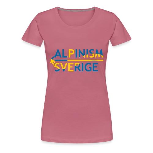 Alpinism Sverige - Premium-T-shirt dam