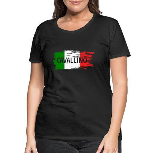 Cavallino auf Flagge - Frauen Premium T-Shirt