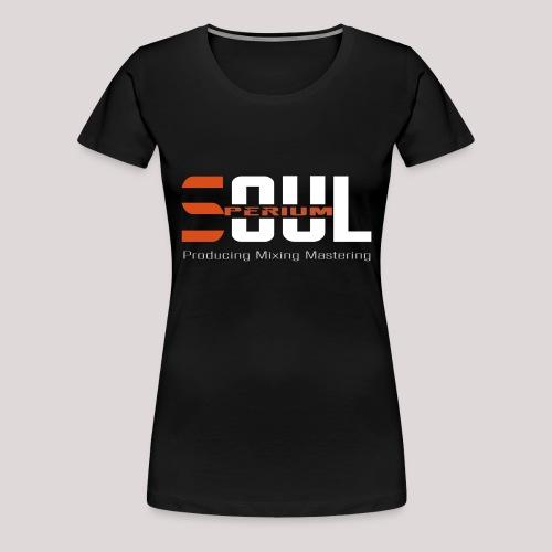 Slim Logo2 - vorne & hinten - Frauen Premium T-Shirt