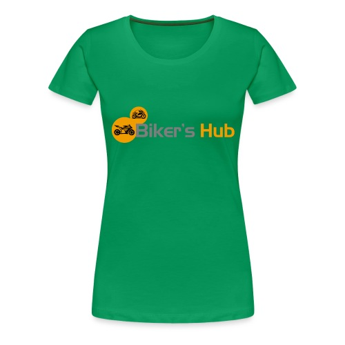 Biker's Hub Small Logo - Women's Premium T-Shirt