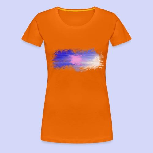 Blue lights - Female shirt - Dame premium T-shirt