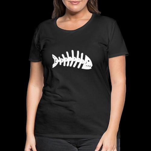 Kun fiske logo - Premium T-skjorte for kvinner