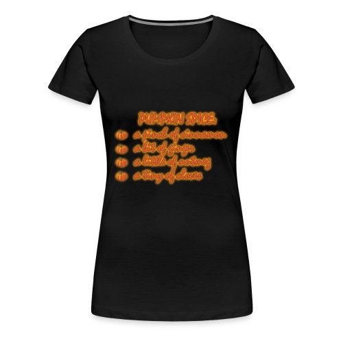 PumpkinSpiceRecipe - Maglietta Premium da donna