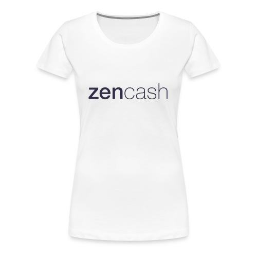ZenCash CMYK_Horiz - Full - Women's Premium T-Shirt